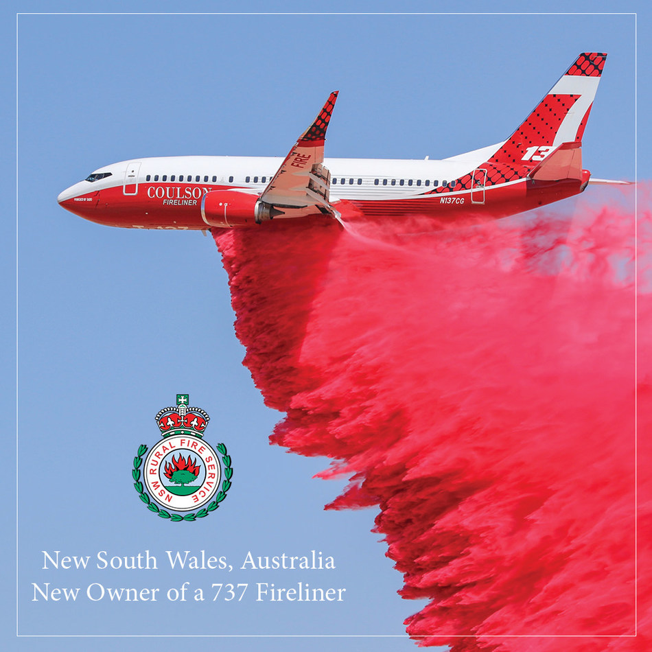 New South Wales, Australia purchases 737 Fireliner from Coulson Aviation. (CNW Group/The Coulson Group of Companies)