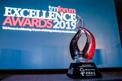 Premio a la Excelencia por Centralidad Sobresaliente del Cliente (PRNewsfoto/Whale Cloud)