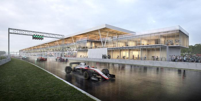 Inauguration of the new paddocks at Circuit Gilles-Villeneuve (CNW Group/SOCIETE DU PARC JEAN-DRAPEAU)