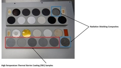 Figure A: Geocent samples mounted on the MISSE sample holder