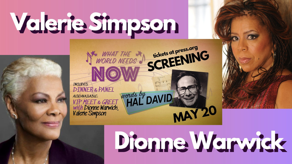 National Press Club Hosts Dionne Warwick and Valerie Simpson for Documentary Screening on Hal David, May 20