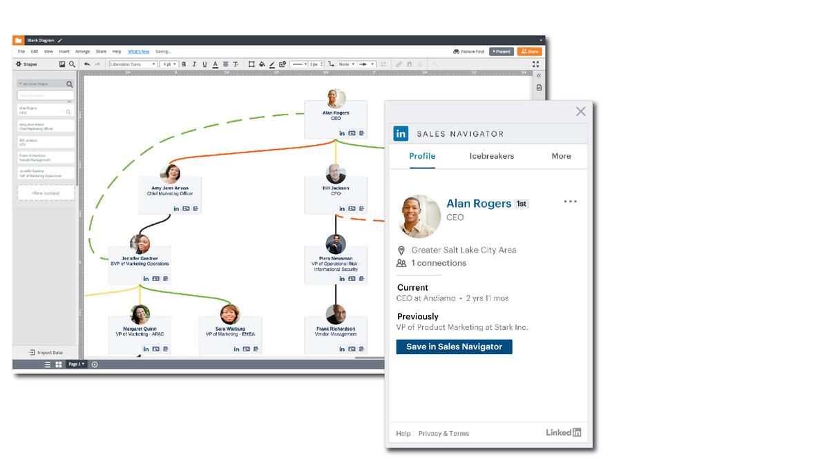 Lucidchart Sales Solution Now Integrates with LinkedIn Sales Navigator