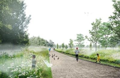Lien écologique Raymond-Lasnier après (Groupe CNW/Ville de Montréal - Arrondissement de Saint-Laurent)
