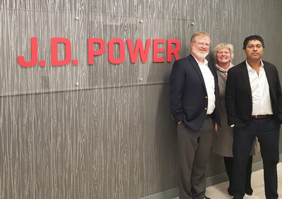 Reevoo staff at J.D. Power headquarters (left to right): Marco Franca, VP – Americas; Lisa Ashworth, CEO; Asitha Rodrigo, CTO