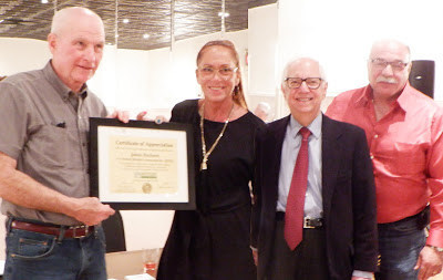 RMA President Jim Hayhurst receives NYCRA recognition award