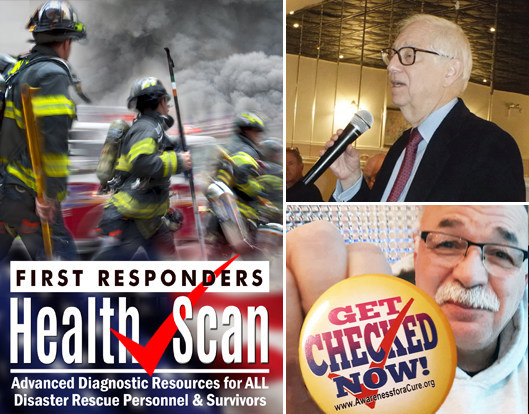 NYCRA's First Responders Health Scan program and speaker series included Dr. Robert Bard and (ret) firefighter Sal Banchitta