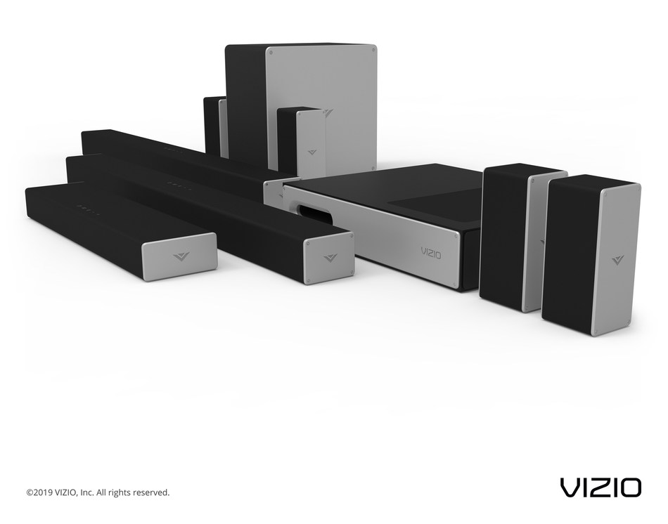 VIZIO 2019 Audio Collection Highlighted by Additional Dolby Atmos Offerings, New Powerful Sound Bar and Flexible Subwoofer Designs Now Available