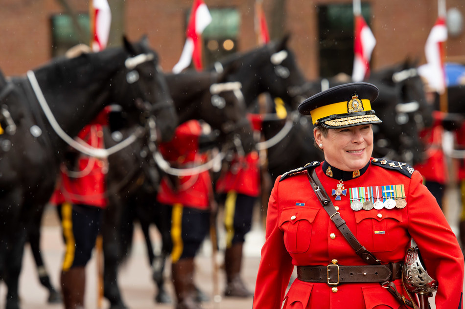RCMP Commissioner Brenda Lucki launches the 2019 Musical Ride Tour (CNW Group/Royal Canadian Mounted Police)
