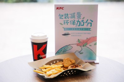 The reusable serving basket in KFC restaurants