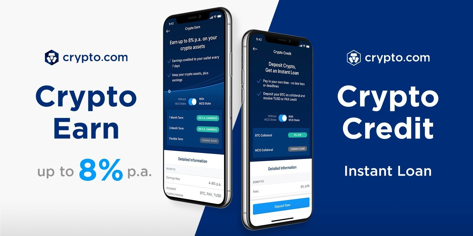 Crypto com Launches Earn and Credit to Replace Your Bank Account