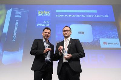 Huawei gana el Premio Intersolar en la feria Intersolar 2019 (PRNewsfoto/Huawei)