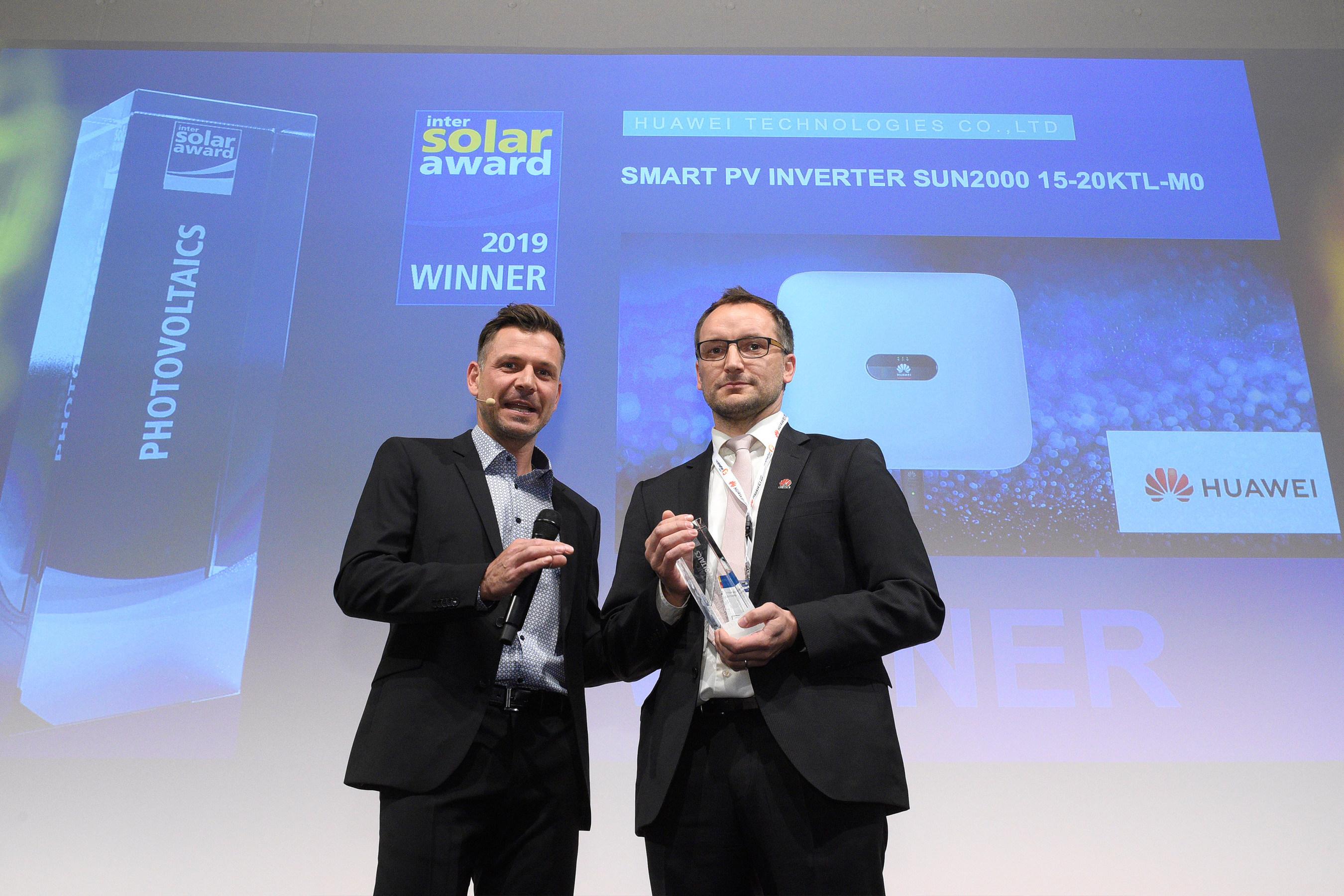 Huawei obtiene el Premio Intersolar en la feria Intersolar 2019