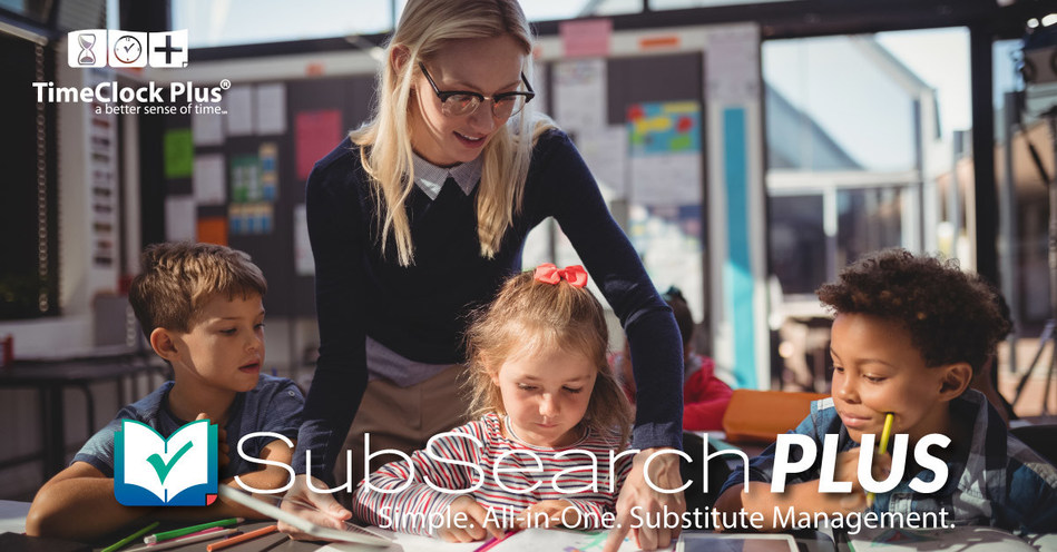 SubSearch Plus, by TimeClock Plus, takes the hassle out of ensuring classrooms are covered by qualified substitutes on a specific day and at a specific time.  With fully-automated assignment offers and robust mobile app notifications and schedules, substitutes, teachers and administrators are all on the same page.  SubSearch Plus puts the focus back on education rather than operations.
