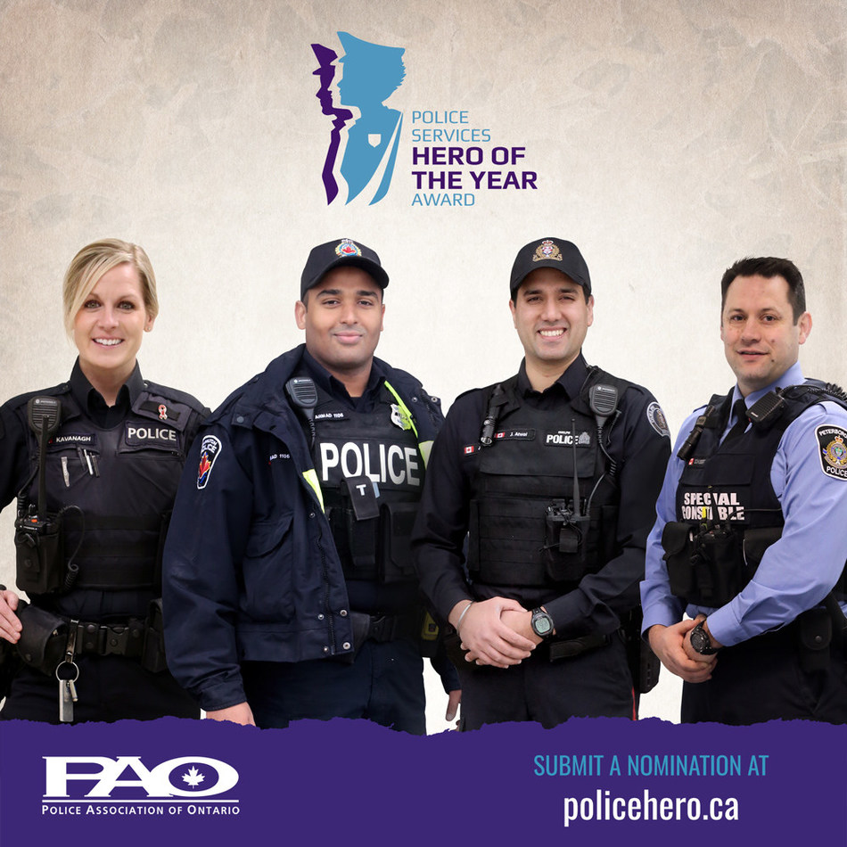 Police Hero of the Year graphic image (CNW Group/Police Association of Ontario)