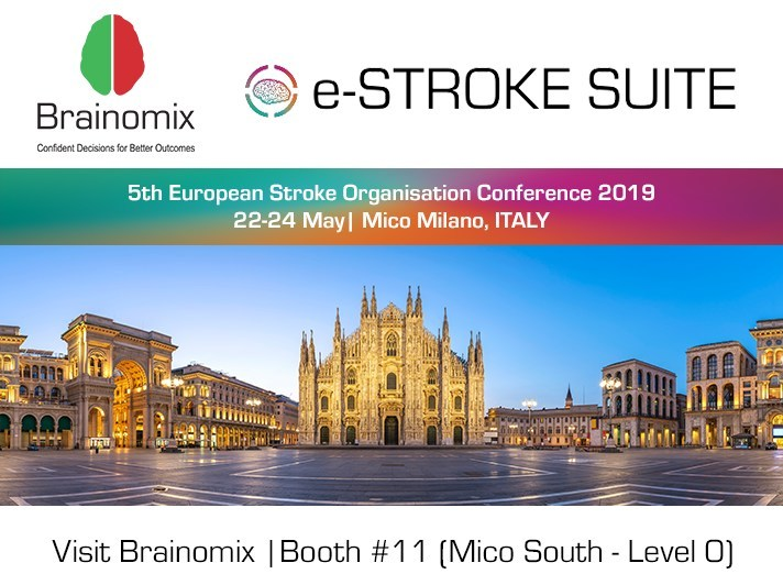 Visit Brainomix at ESOC 2019 (PRNewsfoto/Brainomix)