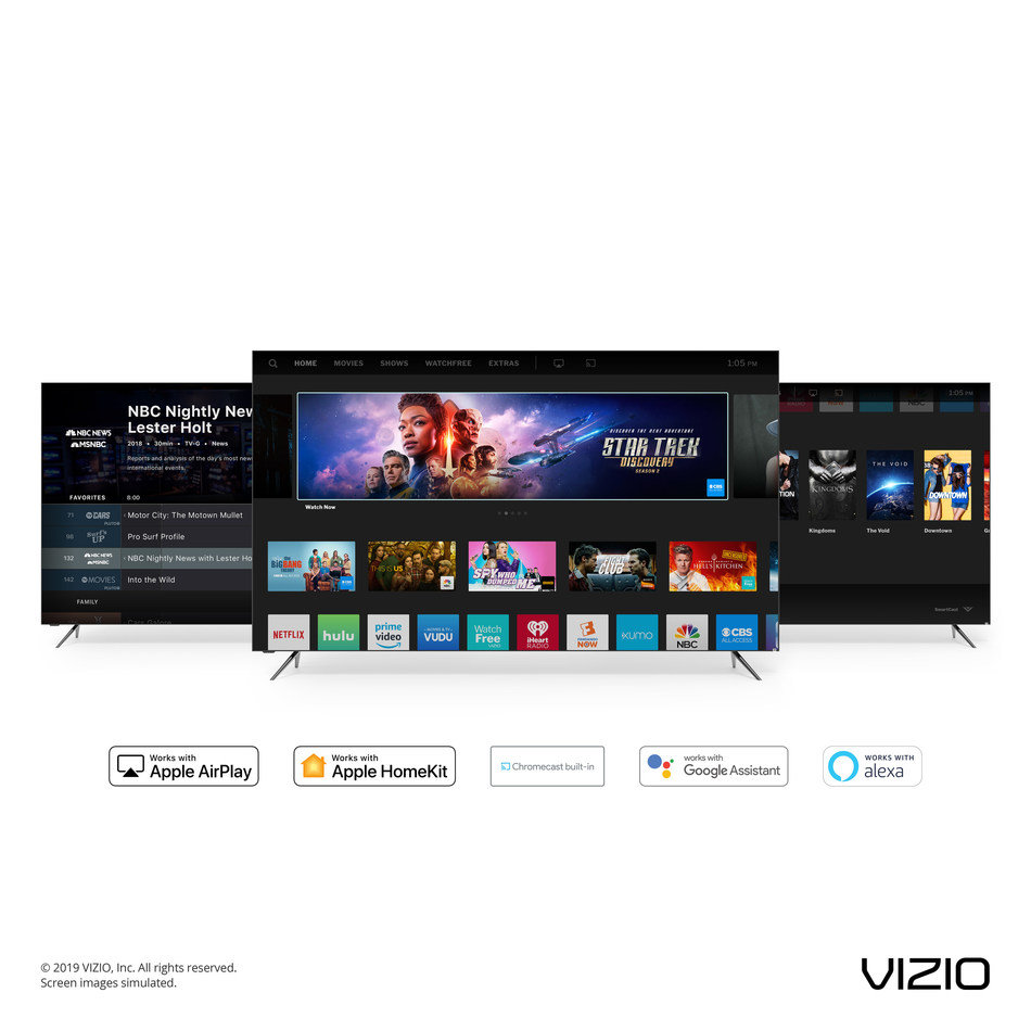 VIZIO Announces Rollout of New Features on SmartCast 3 0 Next
