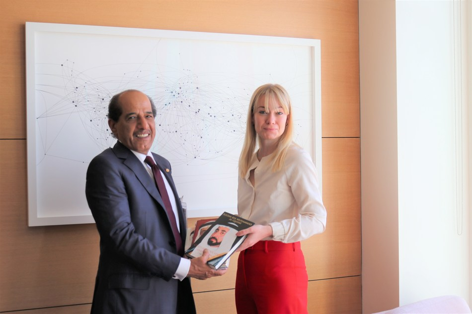 The Chairman of both Bee'ah; the Middle East's sustainability pioneer and the Emirates Medical Group, during key healthcare cooperation talks with Baroness Nicola Blackwood, Minister at the UK Department of Health and Social Care
