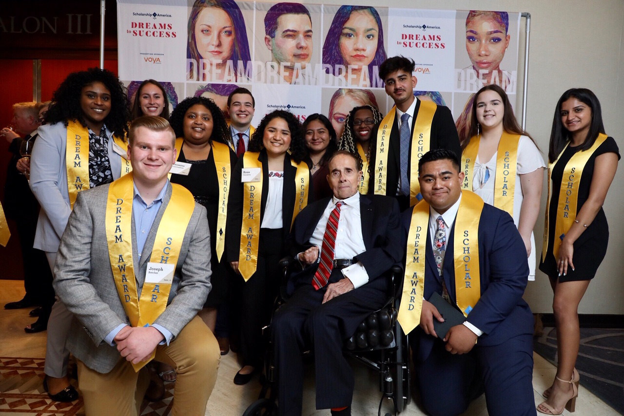 Former Senator Bob Dole attended Scholarship America's 2019 Dreams to Success Awards Dinner in Washington, D.C. The event raised more than $770,000 to support Scholarship America Dream Award scholarships.