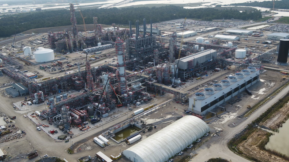 Aerial view of the new production facility.