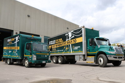 Several Toronto Hydro trucks have been wrapped with powerline safety messages as part of the new campaign. (CNW Group/Toronto Hydro Corporation)