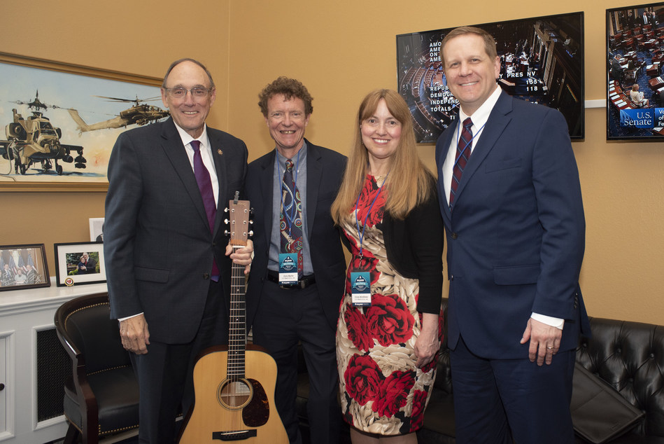 2018 NAMM, CMA  and VH1 Save The Music Foundation Day of Music Education Advocacy on Capital Hill |  Left to right: Rep. Phil Roe (R-TN), C. F. Martin IV, Cindy McAlllister, John McElroy |  Photo Credit: Kris Connor, Getty Images for NAMM