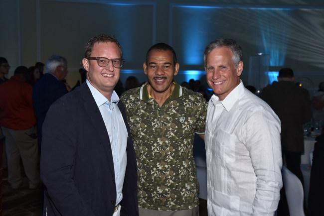 Emerald Sponsor Jeff Netzer of Netzer Family Charitable Foundation, DDF Honorary Board member Willard Shepard of NBC 6 South Florida, and 2019 Gala Chair and DDF Board member David Kubliun of Greenspoon Marder