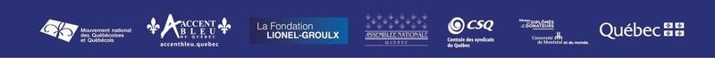 Partenaires de l'événement (Groupe CNW/MOUVEMENT NATIONAL DES QUEBECOISES ET QUEBECOIS)