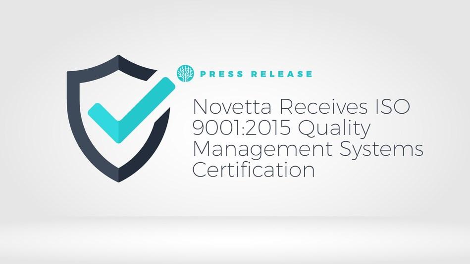 Novetta achieves ISO 9001:2015 Certification