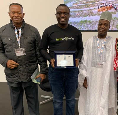 L-R, Amb. GG Umo (Nigerian Ambassador to the Vatican), Mr. Onyeka Akumah (Group CEO & Founder, Farmcrowdy), Amb. Yusuf Jonga Hinna (Nigerian Ambassador to Italy).