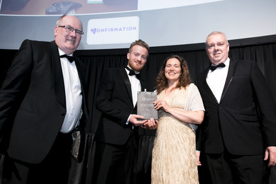 Confirmation presents the Irish Accountancy Award for Best Use of Technology in Accountancy and Finance to IT Sligo.