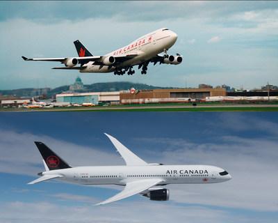 En 1994, Air Canada lançait son service sur Séoul desservi par 747-Combi de Boeing (haut). Aujourd'hui, la liaison est desservie par nos 777 et 787 Dreamliners de Boeing (bas). (Groupe CNW/Air Canada)