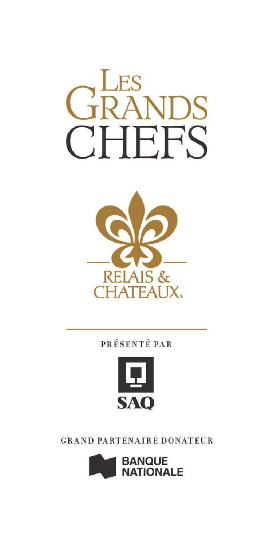 Logo : Les Grands Chefs Relais & Châteaux (Groupe CNW/Fondation de l'ITHQ)