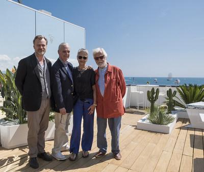 Christopher Nolan, Keir Dullea, Katharina Kubrick and Jan Harlan@MCWB 2018 BD (PRNewsfoto/Baron Philippe de Rothschild)
