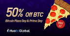 Huobi Makes Bitcoin Pizza Day Huobi Prime Day With Up To 50% Off Bitcoin & Prime 3 Launch