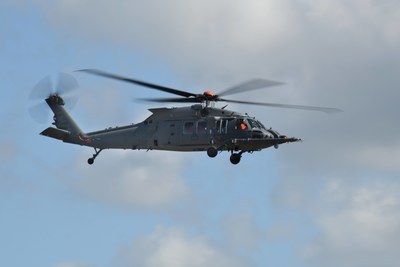 The HH-60W Combat Rescue Helicopter takes flight for the first time on May 17, 2019, at Sikorsky's West Palm Beach site in Florida. Photo courtesy Sikorsky, a Lockheed Martin company.