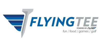 FlyingTee; Active Entertainment; Golf; Food; Dining; Cocktails; Drafts; Sports Bar; Arcade; Family Friendly; Fun; Activities; Live Music (PRNewsfoto/FlyingTee)