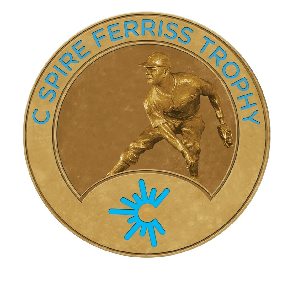 The winner of the 2019 C Spire Ferriss Trophy, which annually honors the top college baseball player in Mississippi, will be named on Monday, May 20 during a special awards luncheon in Jackson.