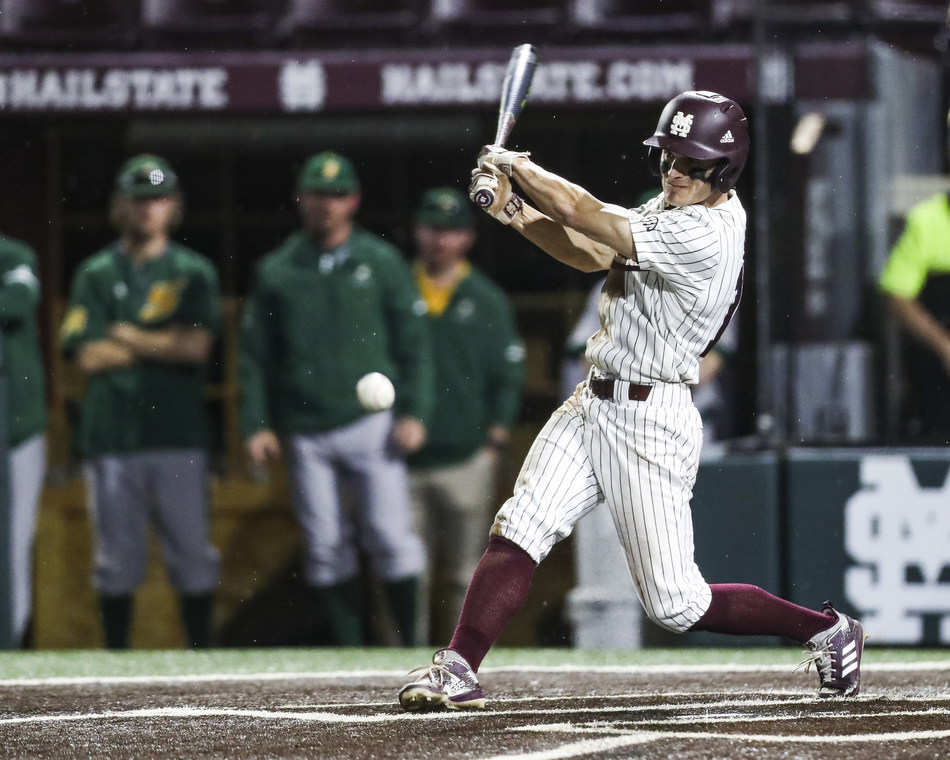 Mississippi State outfielder Jake Mangum, who became the all-time Southeastern Conference hits leader earlier this year, won the fan voting portion of the 2019 C Spire Ferriss Trophy, which annually honors the top college baseball player in Mississippi - photo courtesy of Mississippi State Athletics Department