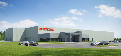 A rendering of Honda Aircraft Company's new 82,000-square-foot production facility in Greensboro, NC.