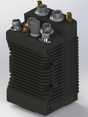 rendering of a combines Silvus SC4200 and IAS gateway module