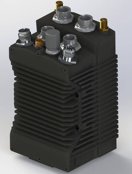 Rendering of a combined Silvus SC4200 and IAS gateway module