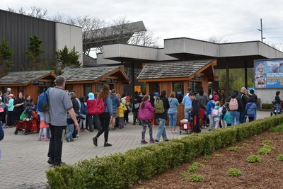 Families lining up for opening day tickets at Marineland. (CNW Group/Marineland)