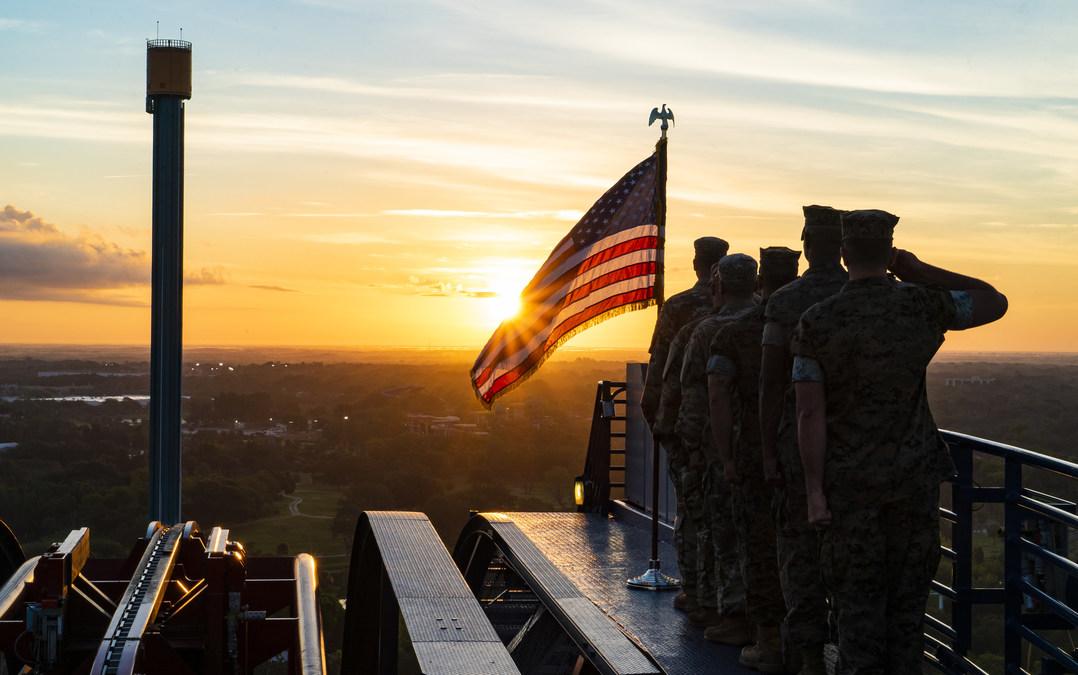 Sunrise Salute at SheiKra - Busch Gardens Law Enforcement Discount 2019