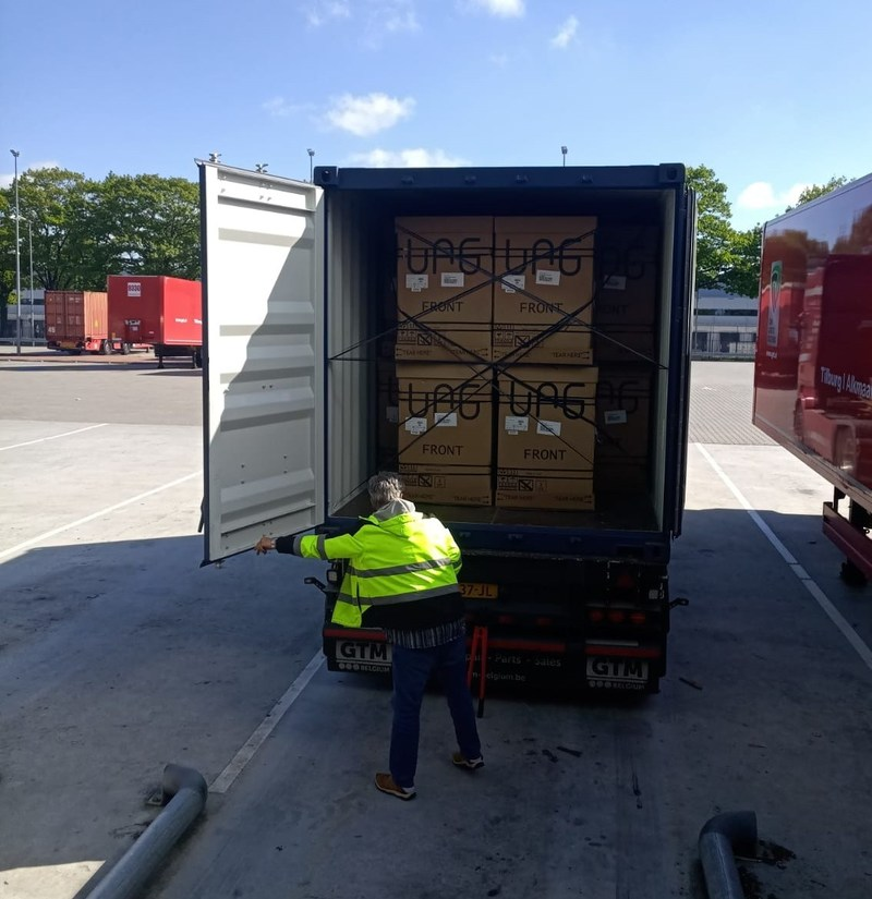Seedo home cultivator units arrive at Holland logistics center