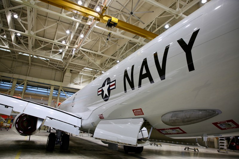 U.S. Navy P-8A Poseidon delivered by AAR.