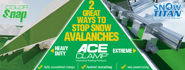 Now offering two great solutions to stop snow avalanches, available by AceClamp.