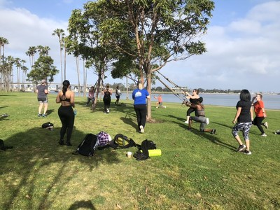 Army veteran Maria Cristina Garcia-Marin joined other female veterans at a Wounded Warrior Project® (WWP) health clinic at Mission Bay. WWP hosts female-only health clinics periodically to address women-specific concerns.