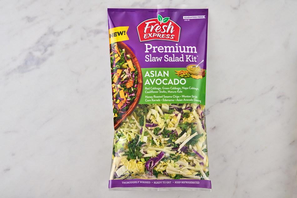 New Fresh Express Premium Asian Avocado Slaw Salad Kit.
