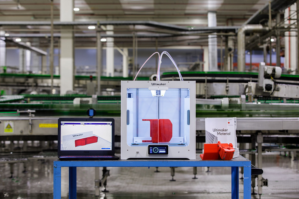Ultimaker, the global leader in desktop 3D printing, today announced that Heineken is using its solutions to produce a variety of custom tools and functional machine parts to aid in manufacturing at the company's brewery in Seville, Spain.
