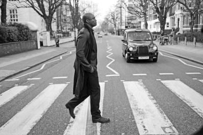 Seal crossing Abbey Road, London
